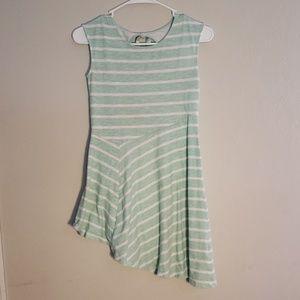 ❤EUC Aqua & White Irregular Dress